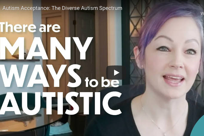 The video showcases a handful of individuals in honour of Autism Acceptance Month. (Video screenshot)