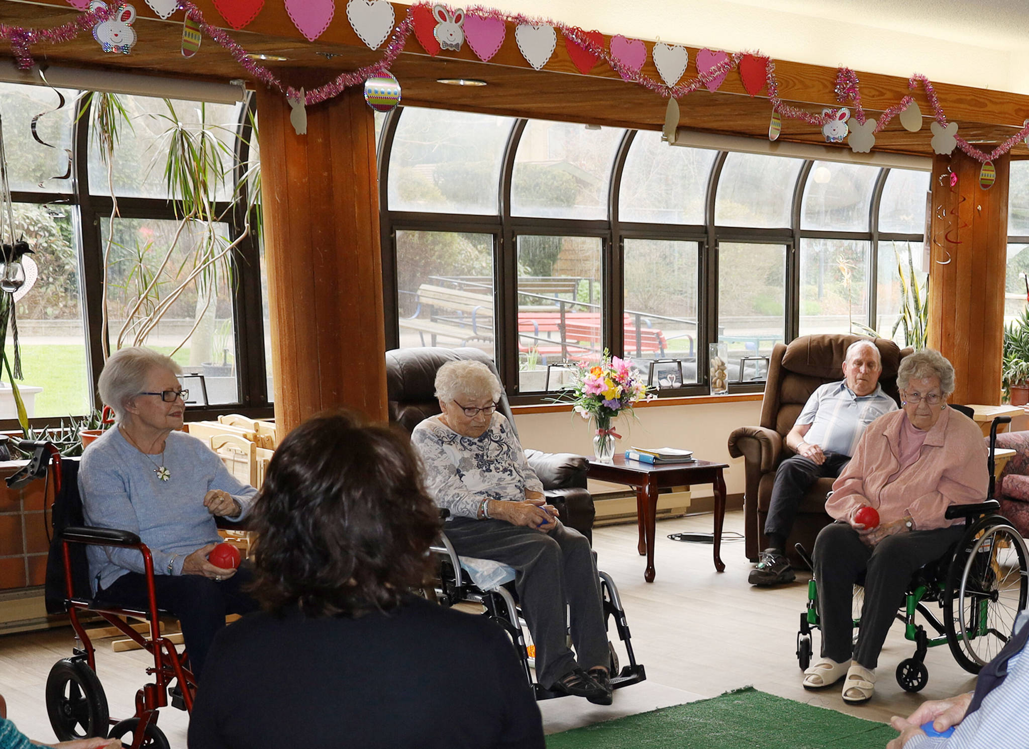 Residents love to spend time in Rest Haven Lodge's large sunroom. But many times the room is too hot or too cold to be comfortable. (Photo courtesy Rest Haven Lodge)